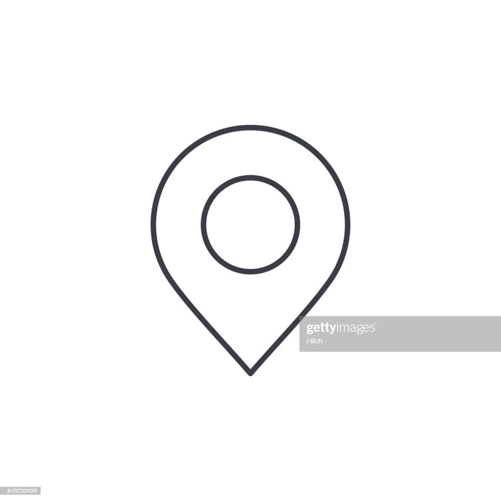 Navigation, location marker, cursor thin line icon. Linear vector symbol