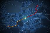navigation map screen