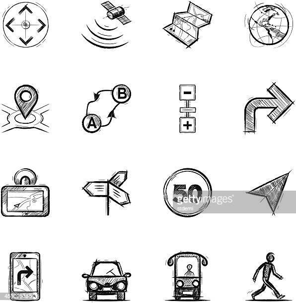 navigation, part 1 - distance marker stock illustrations