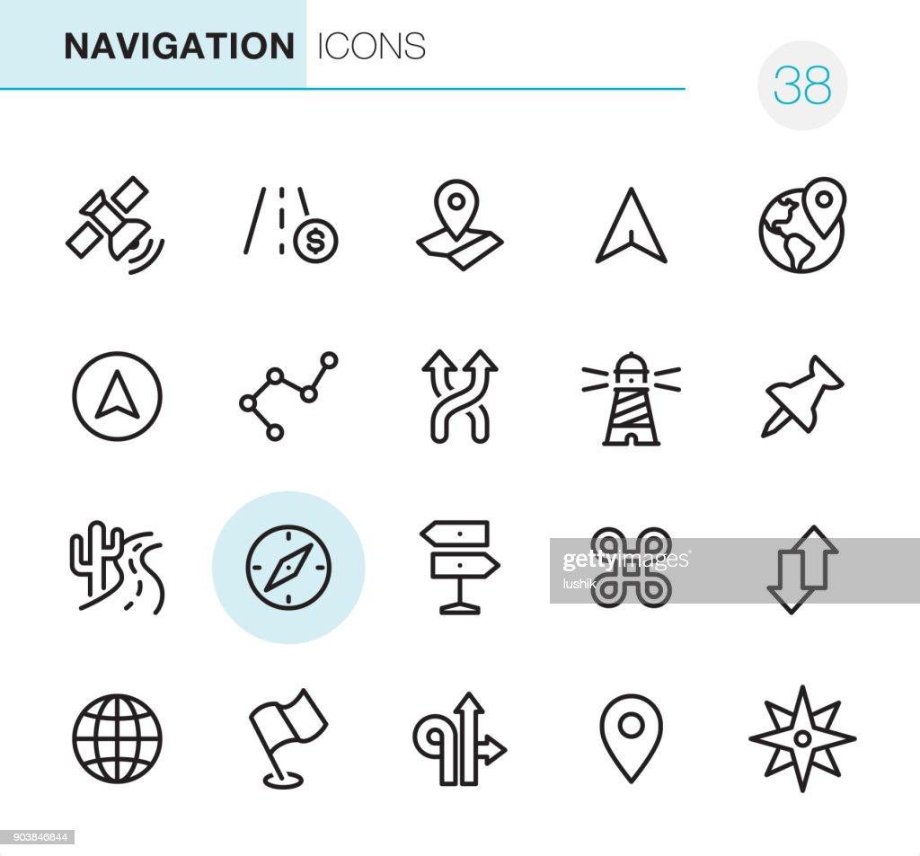 Navegación - iconos perfecto Pixel : Ilustración de stock