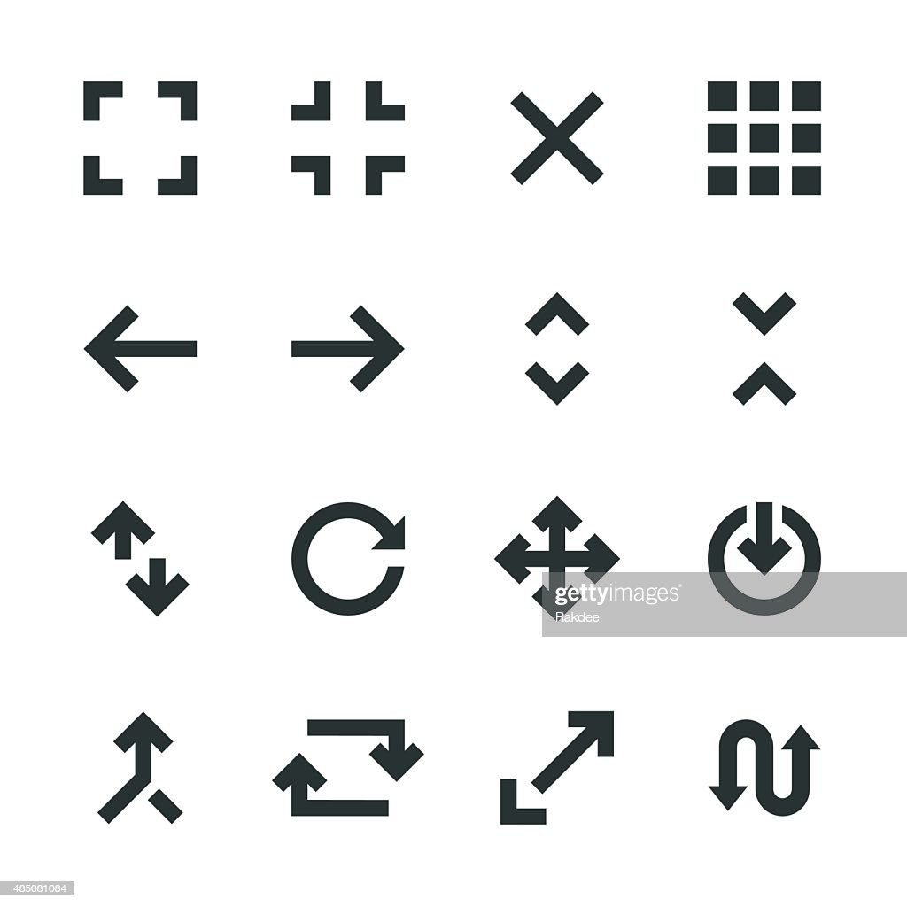 Navigation Silhouette Icons