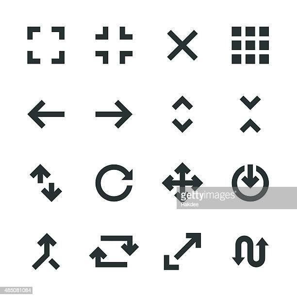 navigation silhouette icons - loopable elements stock illustrations