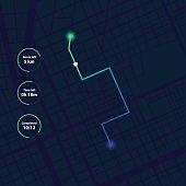 GPS Navigation, Tracking Dashboard interface.