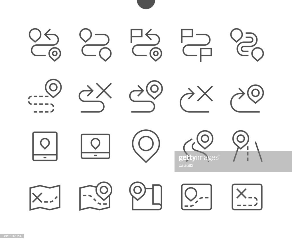 Navigation UI Pixel Perfect Well-crafted Vector Thin Line Icons 48x48 Ready for 24x24 Grid for Web Graphics and Apps with Editable Stroke. Simple Minimal Pictogram