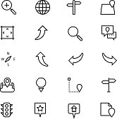 Navigation Vector Line Icons 3