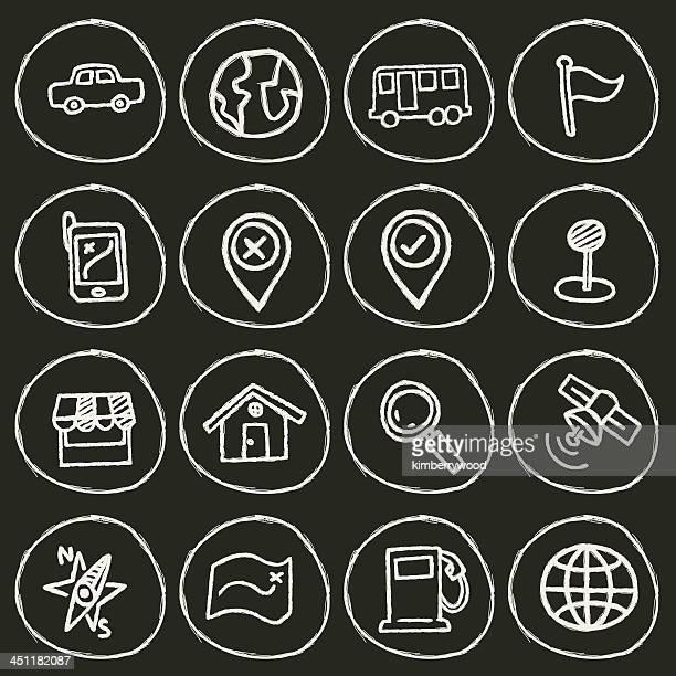 ilustrações, clipart, desenhos animados e ícones de ícone de navegador - famous place
