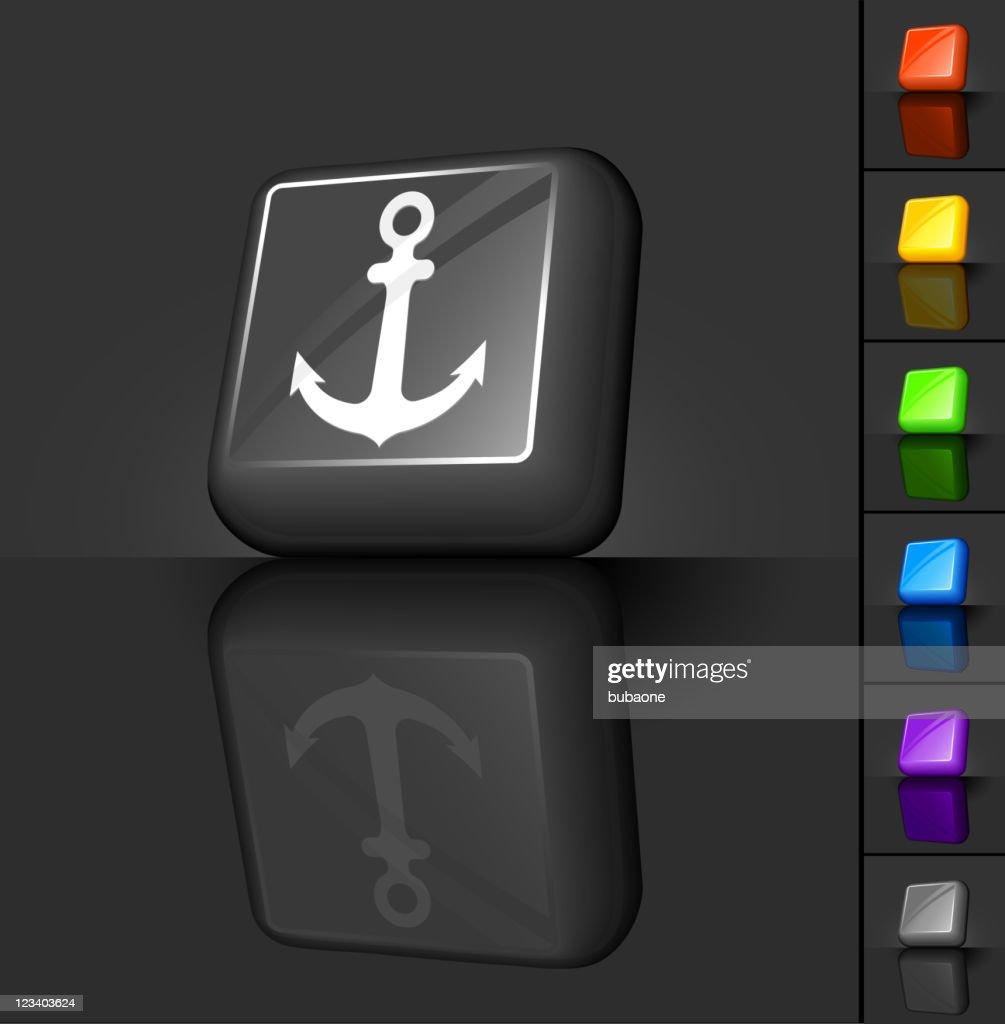 navy anchor 3D button design