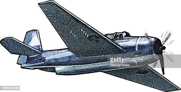 us navy fighter plane - us navy stock illustrations, clip art, cartoons, & icons