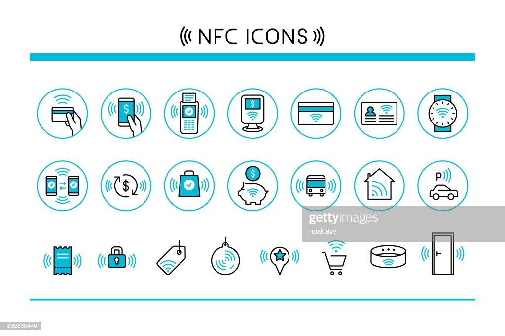 Near field communication icons