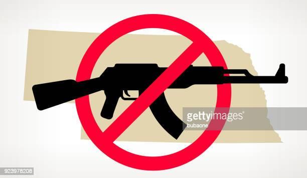 Nebraska No arma violencia Vector Poster