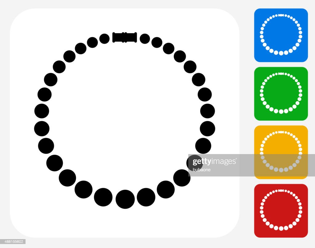 Necklace Icon Flat Graphic Design