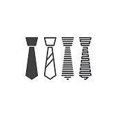 Necktie. Vector icon template