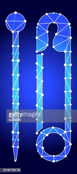 Needle & Safety Pin Blue Triangle Node Vector Pattern