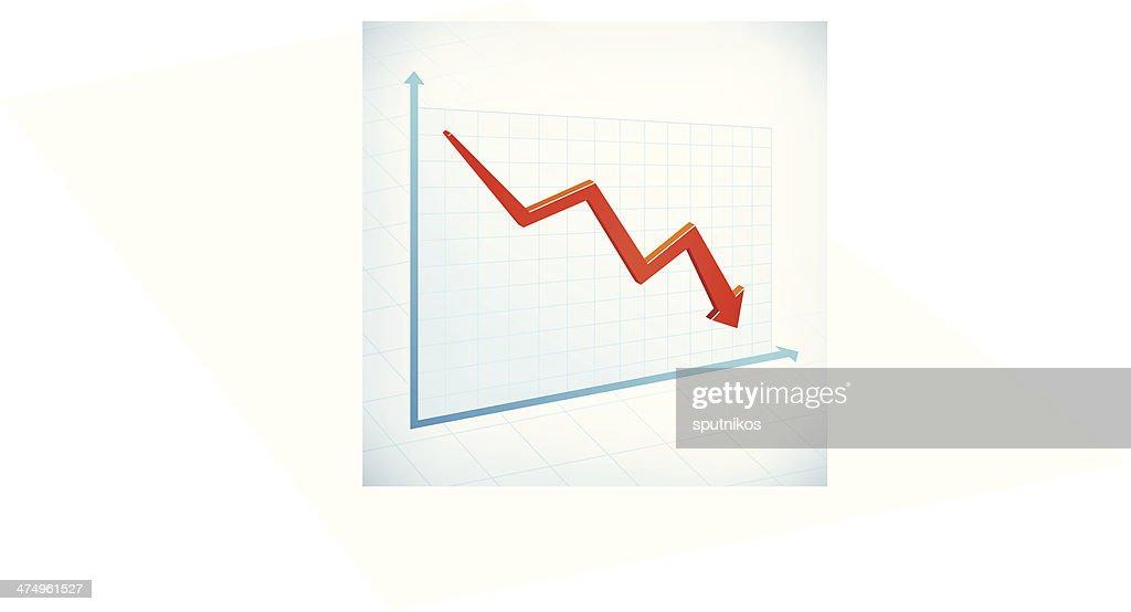 Negative business graph arrow