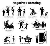 Negative parenting child upbringing.