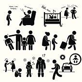 Neglected Child Negligence Abuse Icon Cliparts