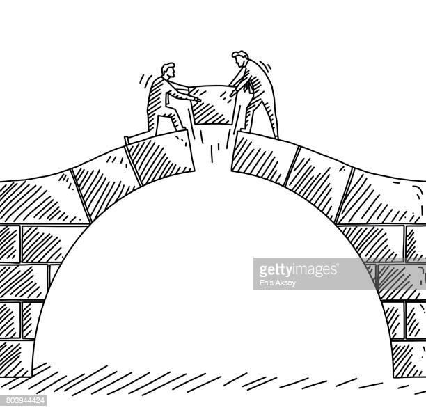 negotiation - bridge built structure stock illustrations, clip art, cartoons, & icons