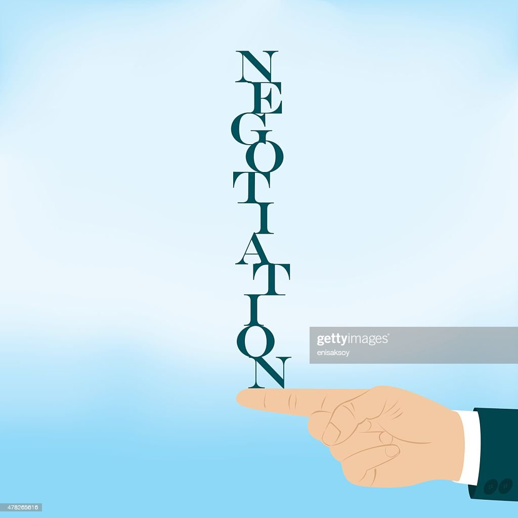 Negotiation Word With In Form Of Stacked Letters Vector Art Getty