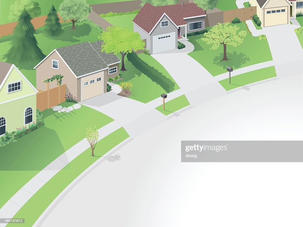 Neighborhood Cul de Sac : stock illustration