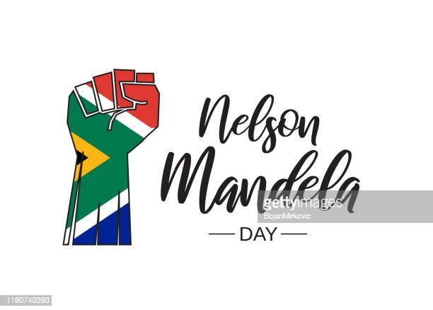 nelson mandela day. vector illustration. - day stock illustrations