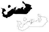 Nenets Autonomous Okrug map vector