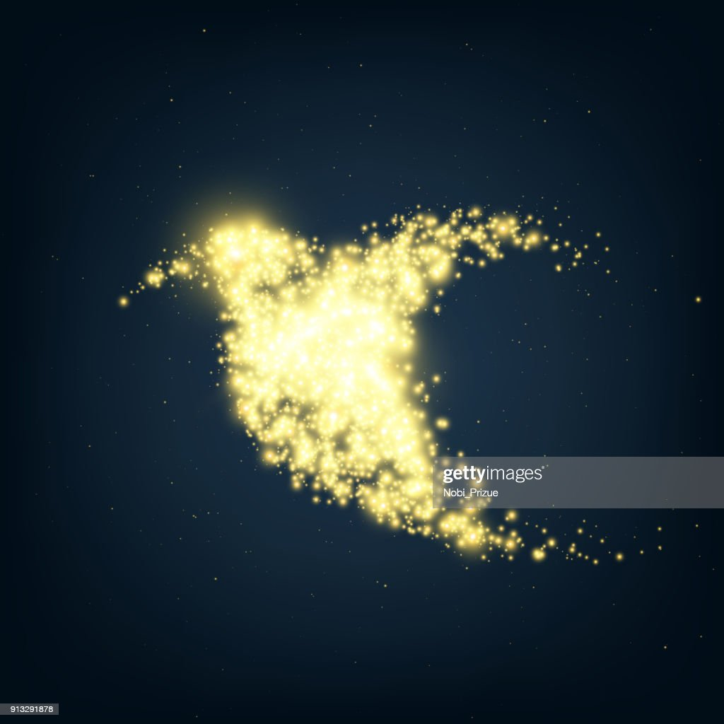 Neon abstract colibri