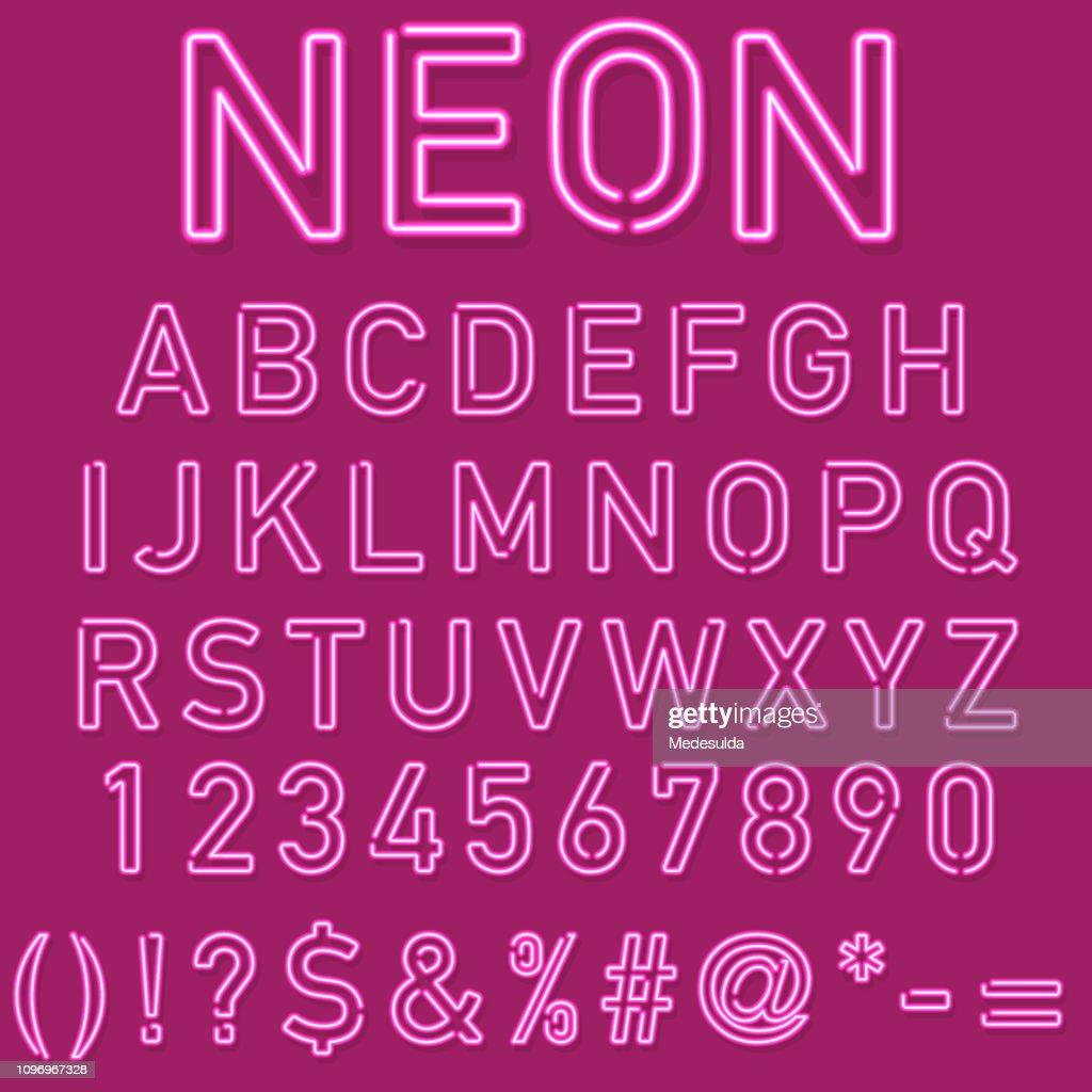 Neon-Alphabet : Stock-Illustration