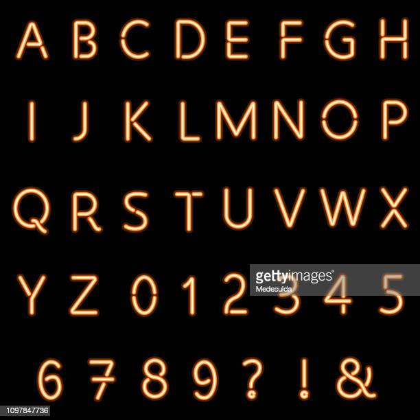 ネオン文字ベクトル - アルファベット順点のイラスト素材/クリップアート素材/マンガ素材/アイコン素材
