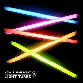 Neon Fluorescent Light Tubes