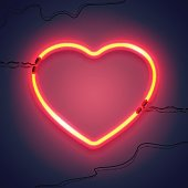 neon lamp heart-02