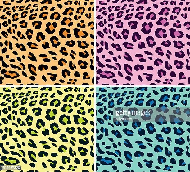 neon leoparden-muster - kunstdruck stock-grafiken, -clipart, -cartoons und -symbole