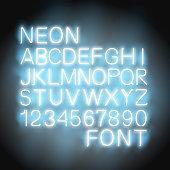 Neon light Font vector