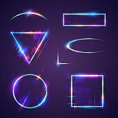 Neon light frames