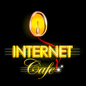 Neon Light signboard for Internet Cafe