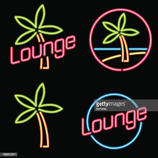 """Neon """"Lounge"""" signs"""