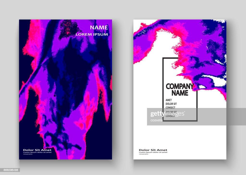 Neon Marmor Textur Explosion Farbspritzer Künstlerische Cover ...
