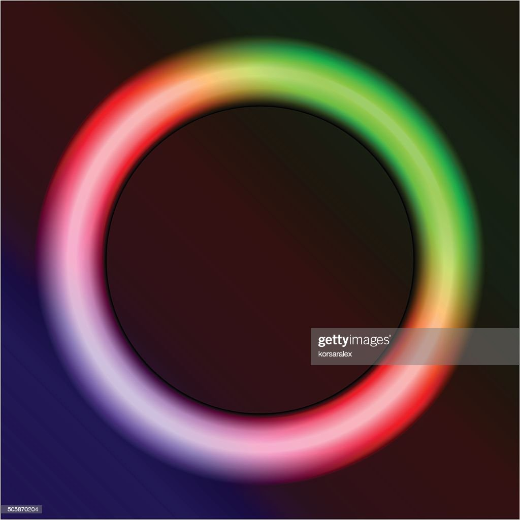 neon ring on a dark background