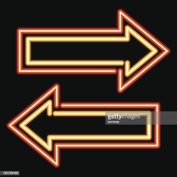 Neon Sign Arrow Icon