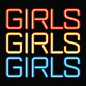 Neon sign girls icon