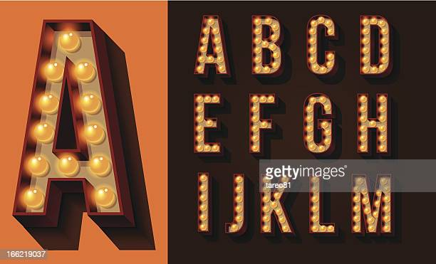 neon sign type - letter d stock illustrations, clip art, cartoons, & icons