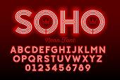 Neon style modern font