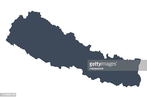 Nepal country map