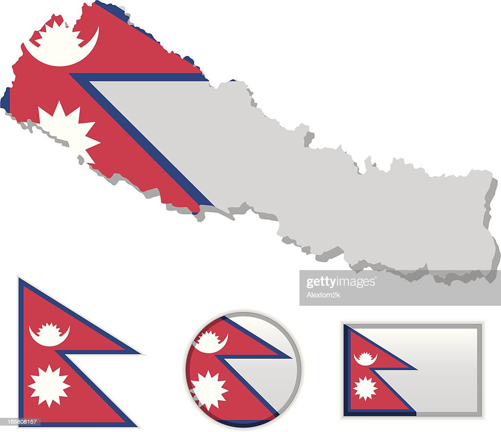 Nepal Map Flag High-Res Vector Graphic - Getty Images