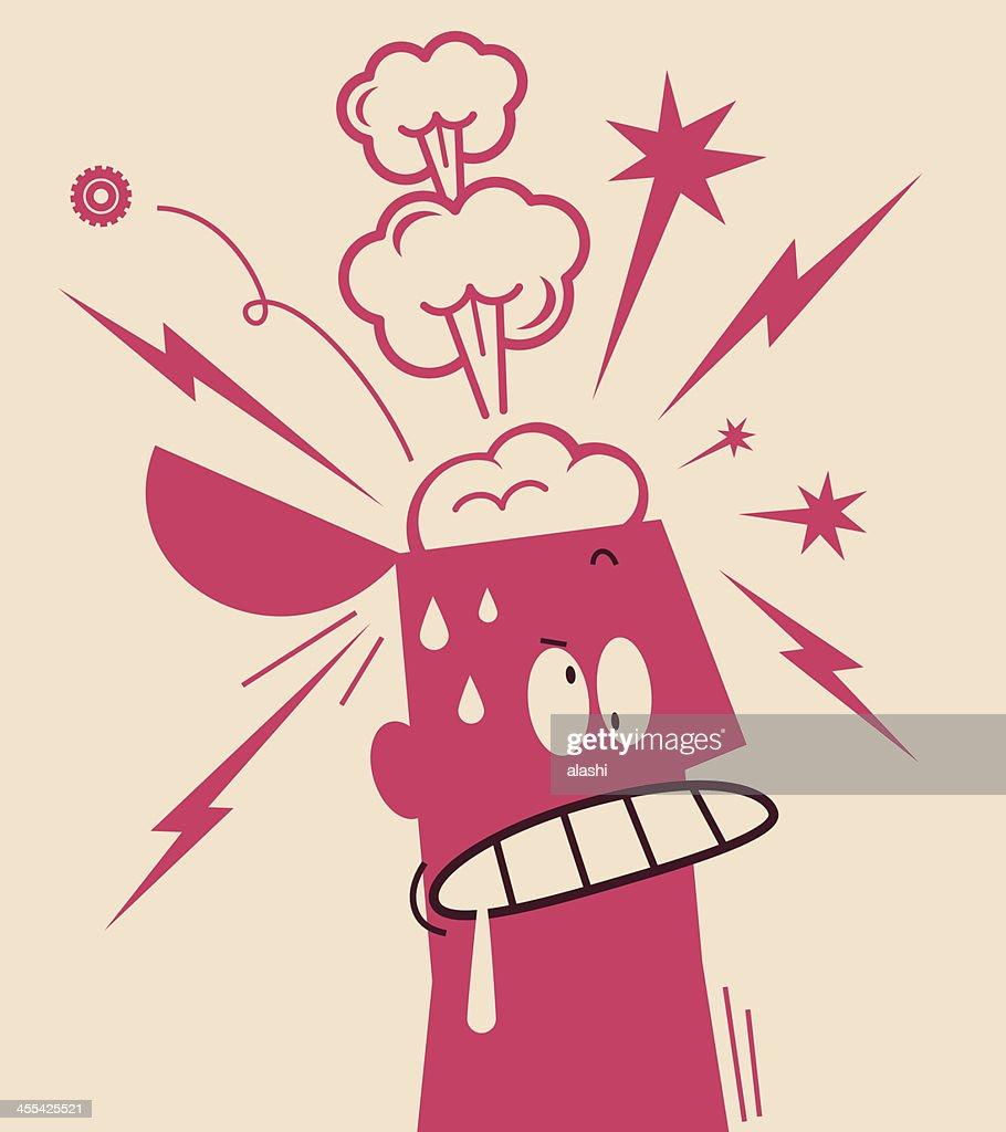 Nervous Breakdown : stock illustration
