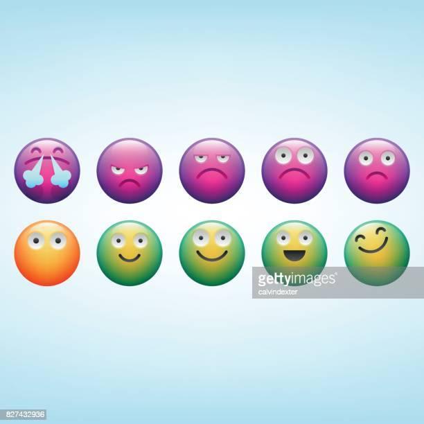 net promoter score emoticons - promoter stock illustrations