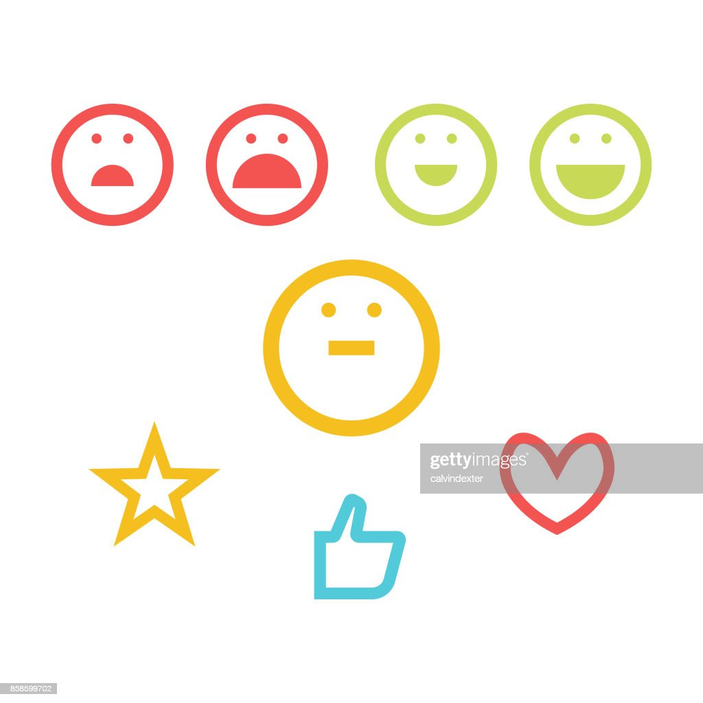 NET Promoter Score-Icon-set : Stock-Illustration