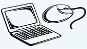 Netbook and computer mouse