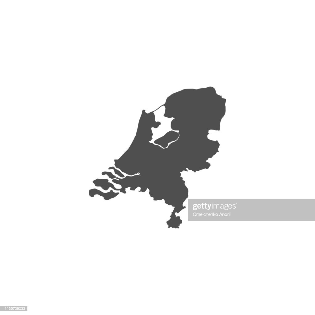 Netherland map sign background.