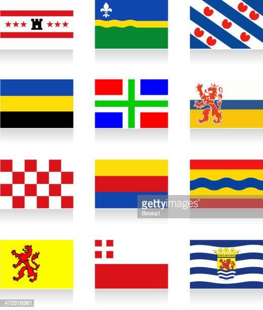 オランダ州旗のコレクション - オランダ リンブルフ州点のイラスト素材/クリップアート素材/マンガ素材/アイコン素材