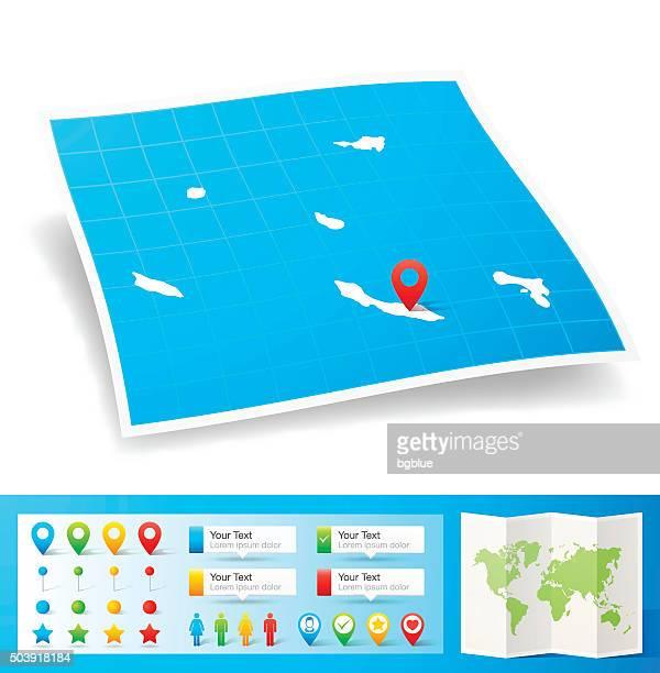 オランダ領アンティルのロケーションマップピン、白背景 - シント・ユースタティウス島点のイラスト素材/クリップアート素材/マンガ素材/アイコン素材